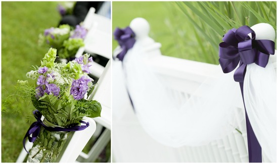 Lovely Purple Ceremony Aisle Decor