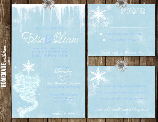 Frozen Invitation Set