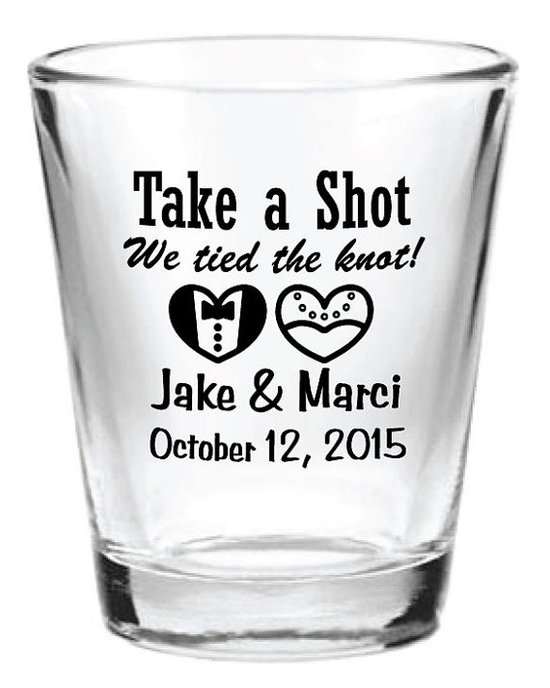 photo of Custom Shot Glass Favor