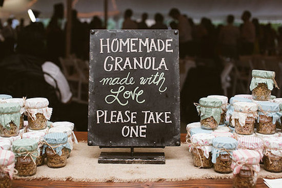 Homemade Granola Favor