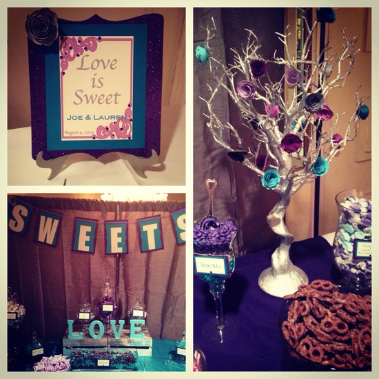 Purple & Turquoise Candy Buffet