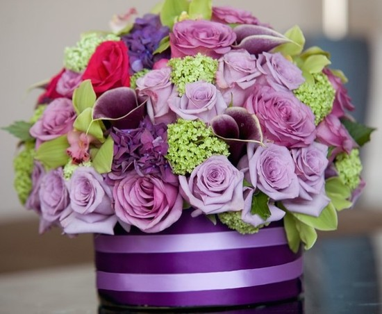 purpleflowercenterpiece