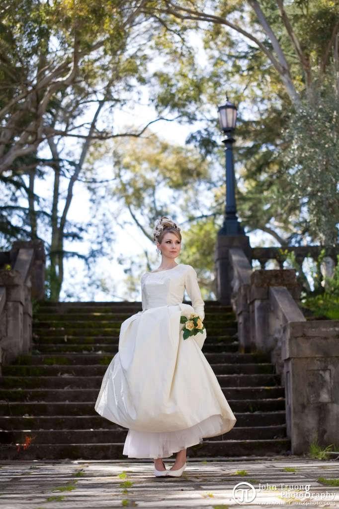 Blonde-bride-ecru-wedding-dress-almost-tan-vintage-modest-wedding-dress-bridal-style.full