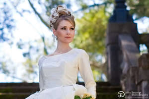 photo of Bride Chic: The Blonde Bride And The Perfect Shade Of Wedding Dress White