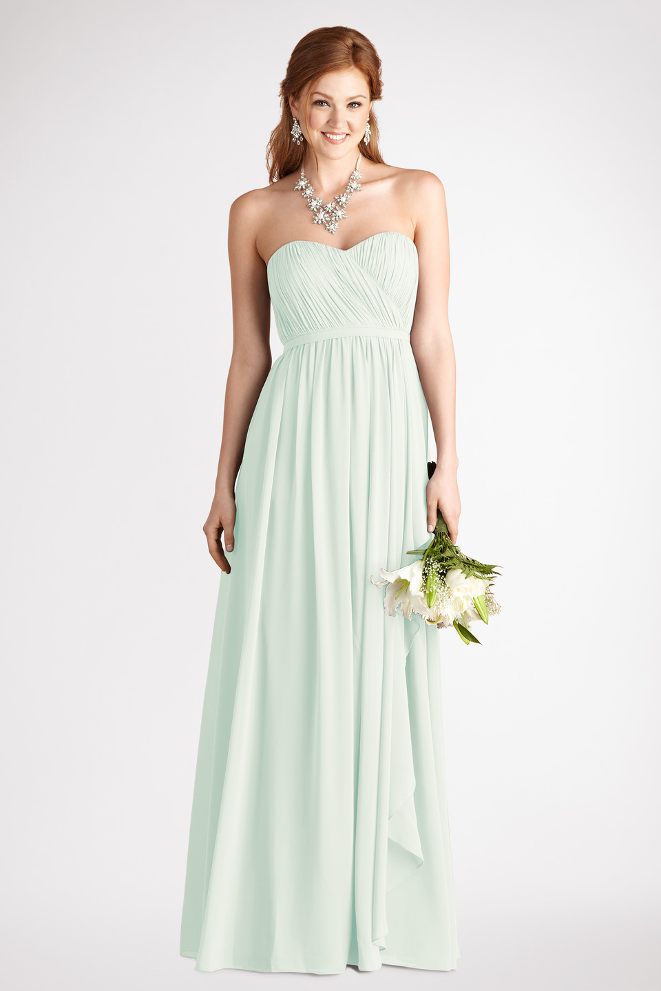 Sweetheart strapless dress in mint onewedcom for Mint dresses for wedding