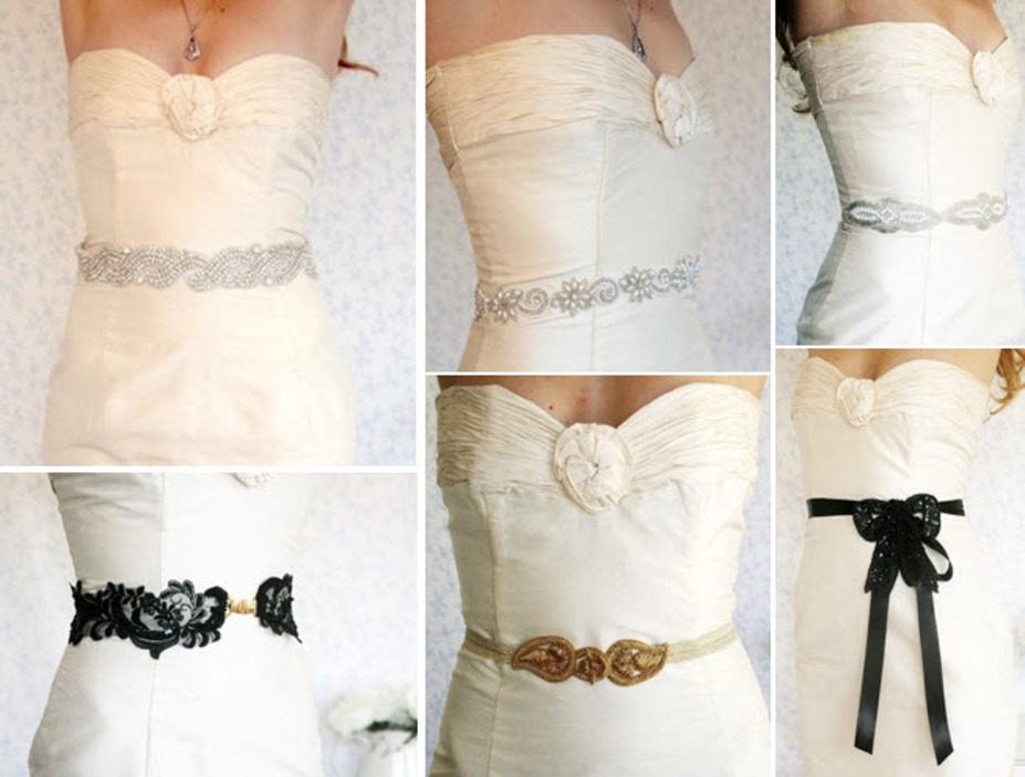 Dress your wedding dress up with a fabulous beaded belt or ...