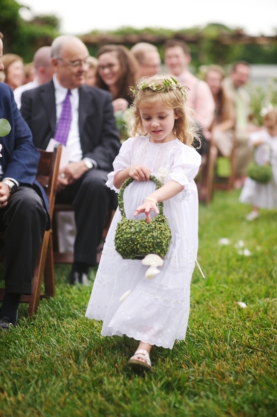 Precious Flower Girl with Green Basket
