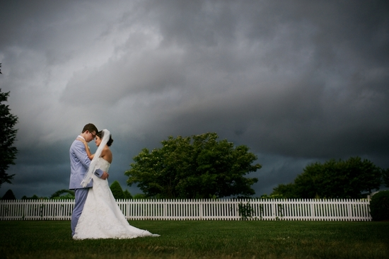 Real Couple Under Storm Clouds