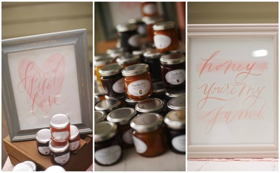 Homemade Honey and Jam Favors