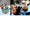 Delicious-wedding-reception-desserts-cupcake-tree-bright-colors-bride-with-vibrant-floral-bridal-bouquet.square