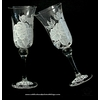 Handpainted-champagne-toasting-flutes-clear-white-black-floral-rose-design.square
