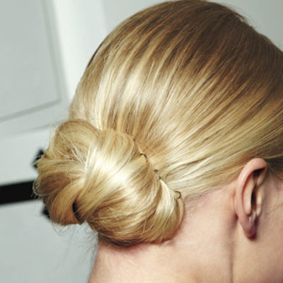 Chic simple DIY bridal hairstyle- the low bun