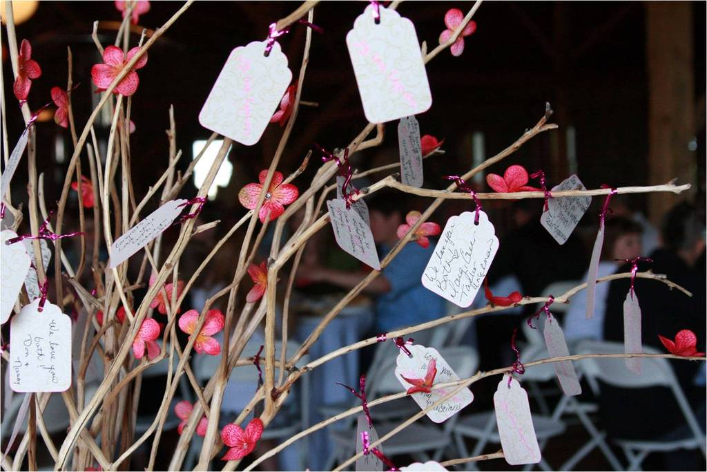 Manzanilla-branches-create-creative-guest-book-guests-write-cards-hang-on-branches-diy-wedding-idea.full