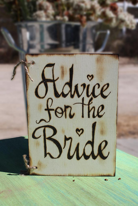 Advice for the Bride Engraved Book
