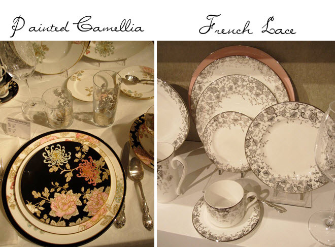 Painted Garden And French Lace Patterns From Marchesa S New China Collection