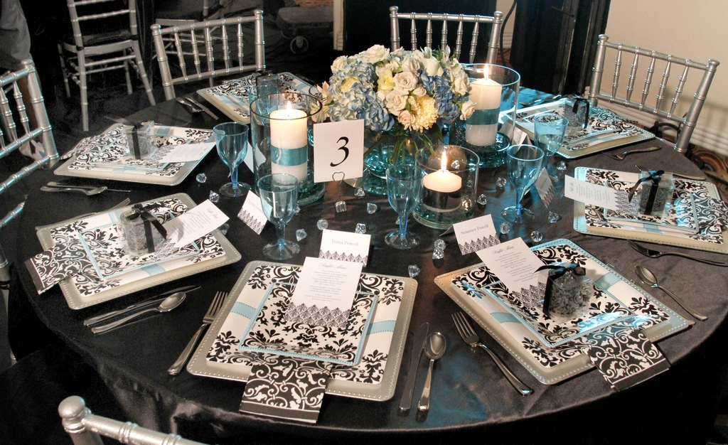 Black-white-damask-turquoise-bridal-shower-brunch-decor-tablescape.full