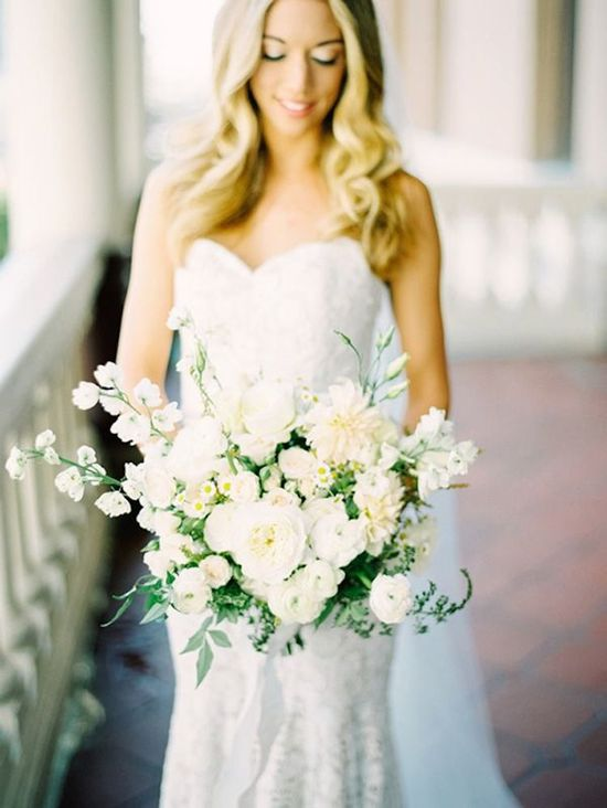 Wonderfully Wild All White Bouquet