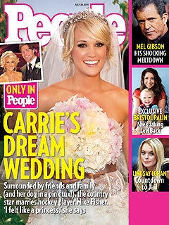 photo of Celebrity Wedding Details: A Totally Feminine, Romantic Wedding For Carrie Underwood!