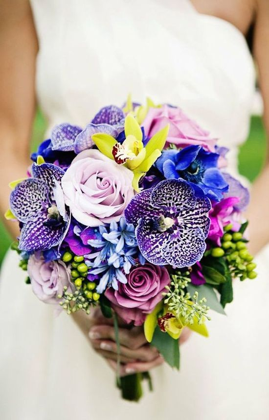 Bright and Unique Bridal Bouquet
