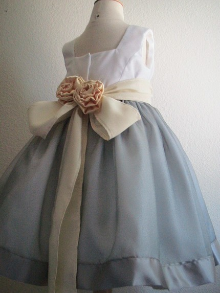 Chic-vintage-inspired-flower-girl-dress-ice-blue-skirt-champagne-sash-with-flower-applique.full