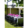 Hot-pink-black-chandelier-glam-outdoor-bridal-shower-purple-pink-low-table-centerpieces-flowers.square