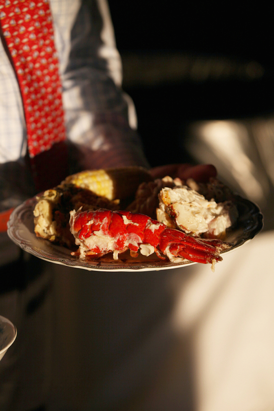 Lobster and Corn for Reception Dinner