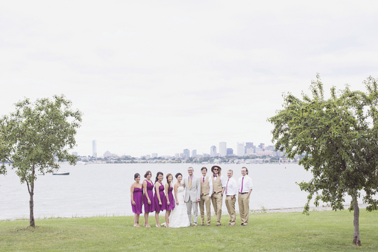 Bridal Party Photography on Thompson Island