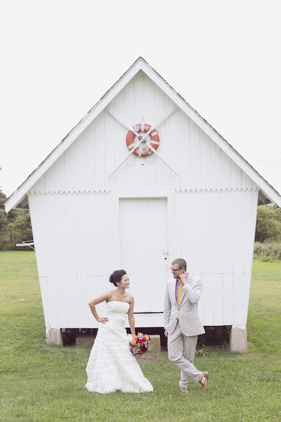 Adorable Couple On Their Wedding Day