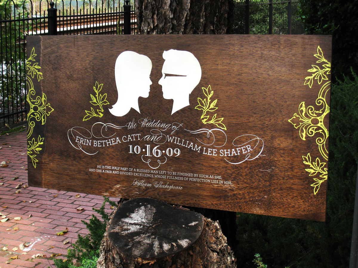 Add A Custom Touch To Your Wedding With A Handpainted Wood