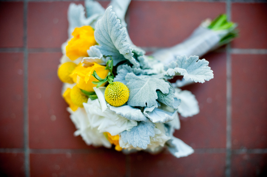 Modern Boutonniere with Yellow Billy Balls
