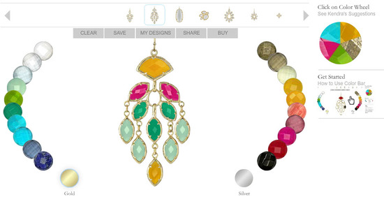 Create the perfect chandelier earrings with Kendra Scott's Color Bar tool; and win a pair this week