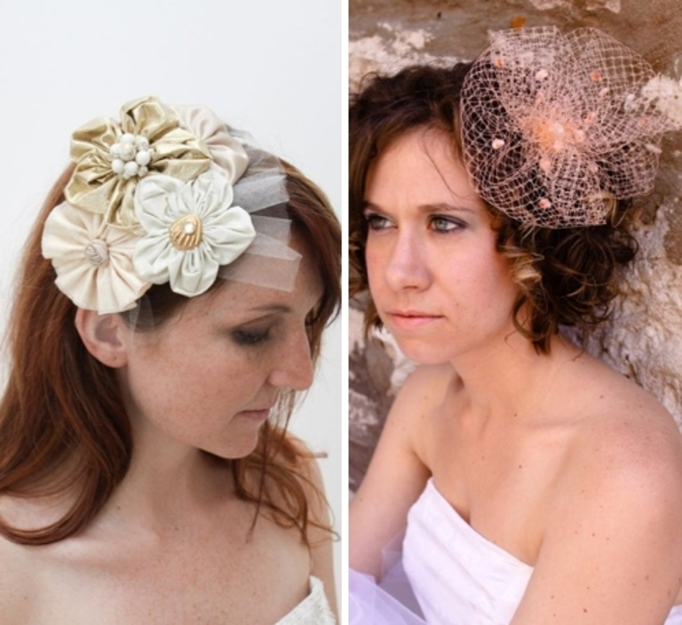 Stunning Eco Friendly Bridal Hair Accessories Including Headband With Vintage Brooches From Twigs