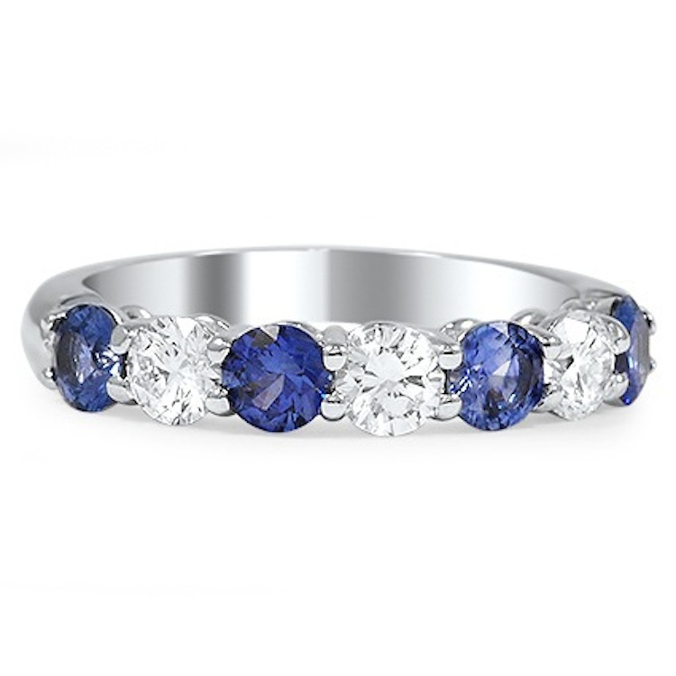 Brilliant Earth Blain Wedding Ring With Sapphires And Diamonds