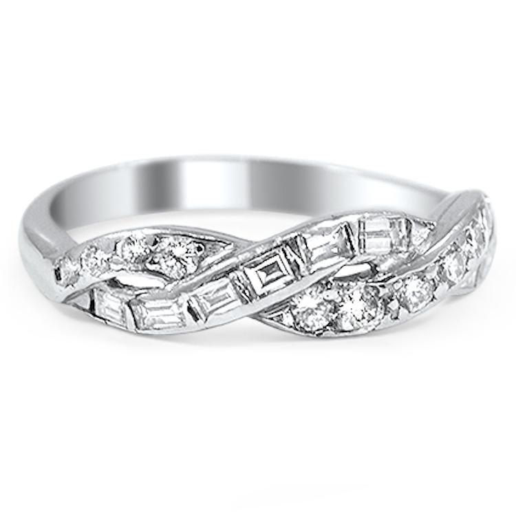 Brilliant Earth Una Wedding Ring With Interwoven Ribbons Of Diamonds