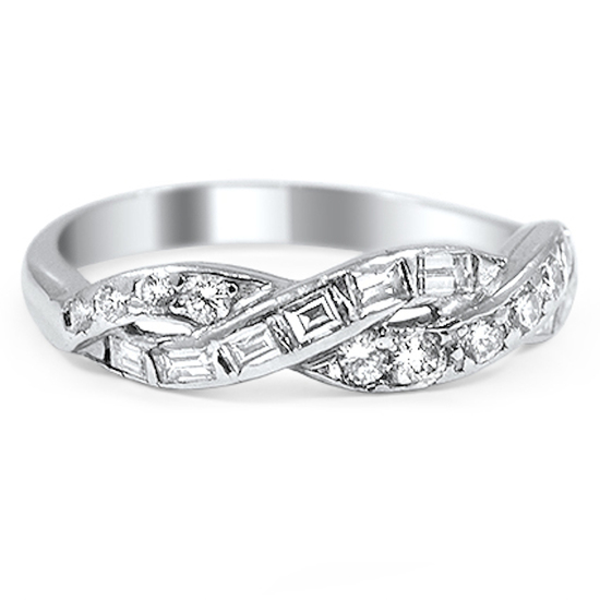 Brilliant Earth Una Wedding Ring with Interwoven Ribbons of Diamonds