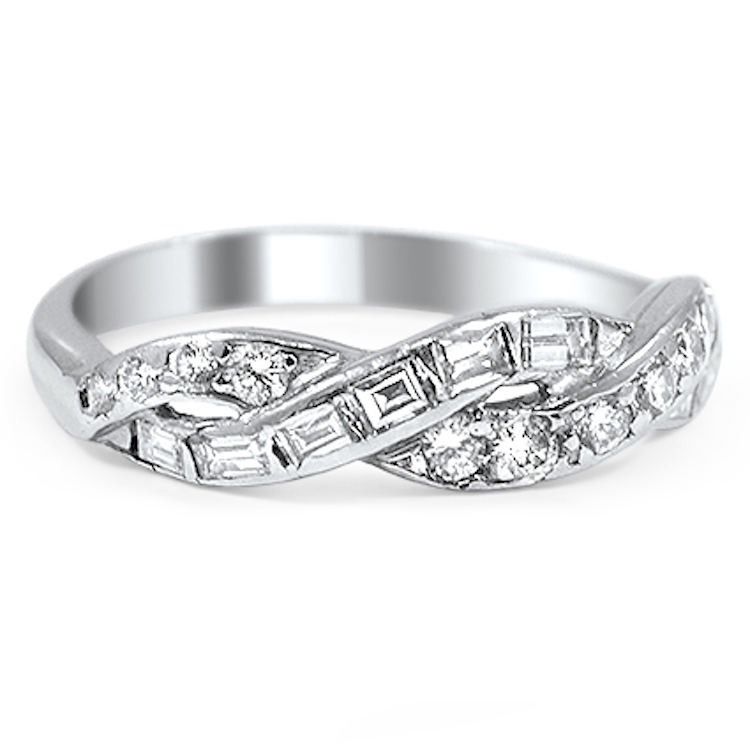 Brilliant Earth Una Wedding Ring with Interwoven Ribbons of Diamonds ...