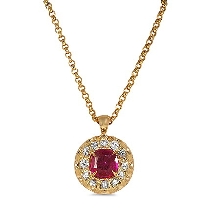 Brilliant Earth Penzance Pink Sapphire Necklace