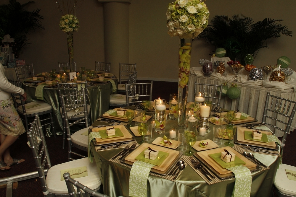 The Enchanted Garden Wedding Reception With A Sage Green And Natural