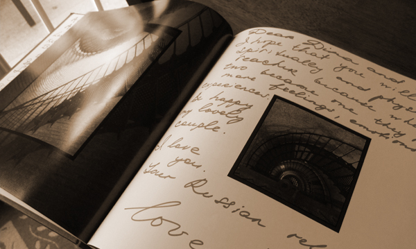 Make your guest book something you'll treasure forever with a unique spin on tradition!