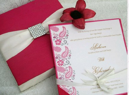 Silk box Invitation