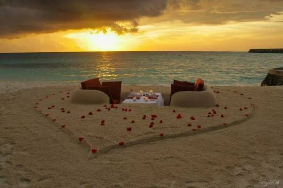 able for two on the sand for two, Maldives