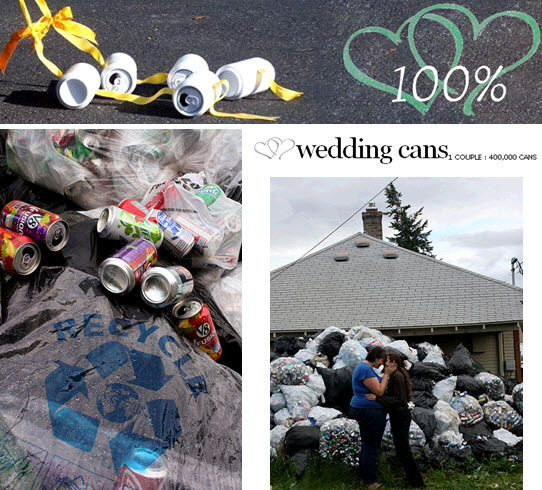 photo of The Greenest Wedding Around: Couple Collects 400,000 Recyclable Cans To Fund July Nuptials