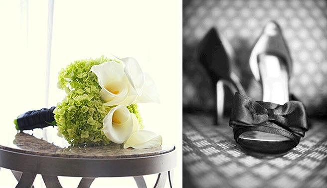 Calla-lily-white-orchids-green-hydrandeas-black-ribbon-bridal-bouquet-black-open-toe-chic-satin-bridal-heels.full