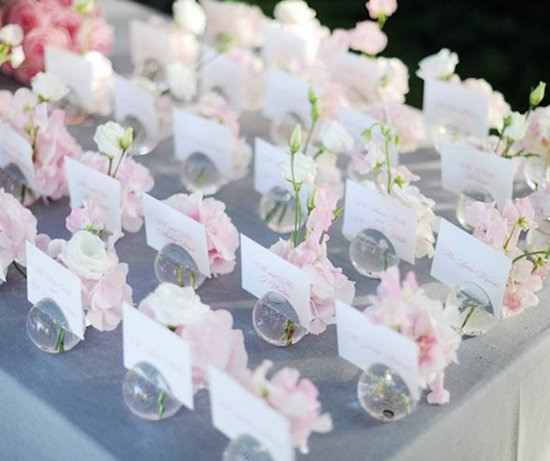 Sweet and Romantic Escort Card Holders