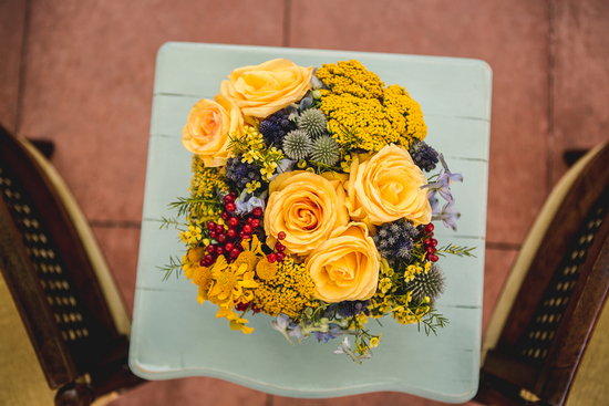 Golden Yellow Autumn Flower Arrangements