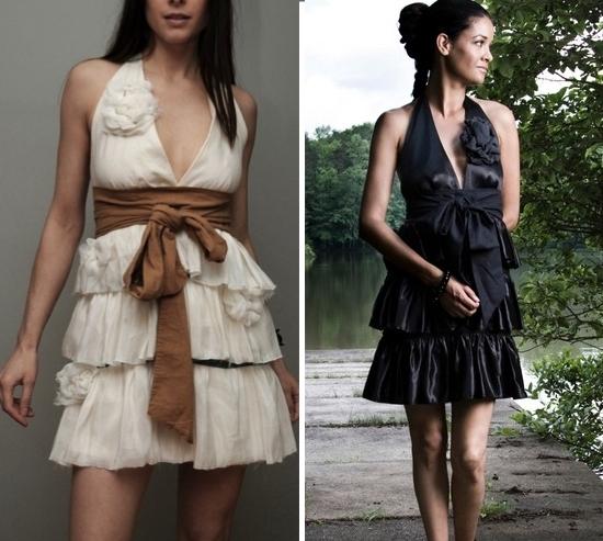 Trendy-eco-friendly-bridesmaids-dresses-black-cream-tan-sash.full