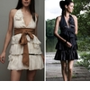 Trendy-eco-friendly-bridesmaids-dresses-black-cream-tan-sash.square