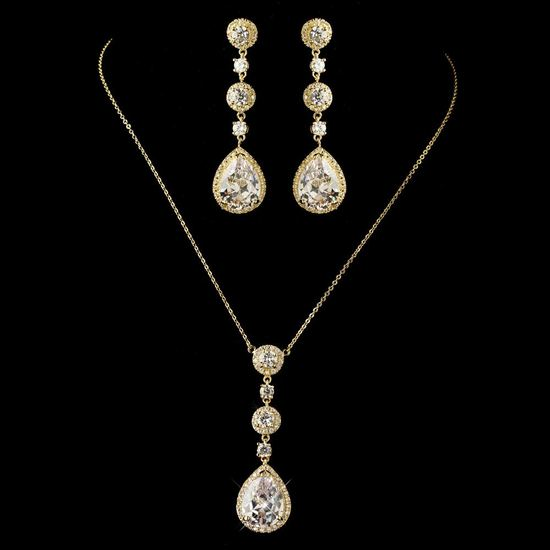 gold-clear-round-teardrop-cz-crystal-necklace-8623-earrings-8676-jewelry-set-4