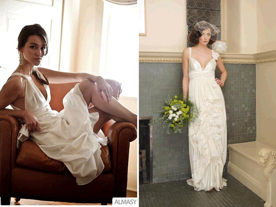 Classic wedding dresses by Etsy seller Morgan Boszilkov