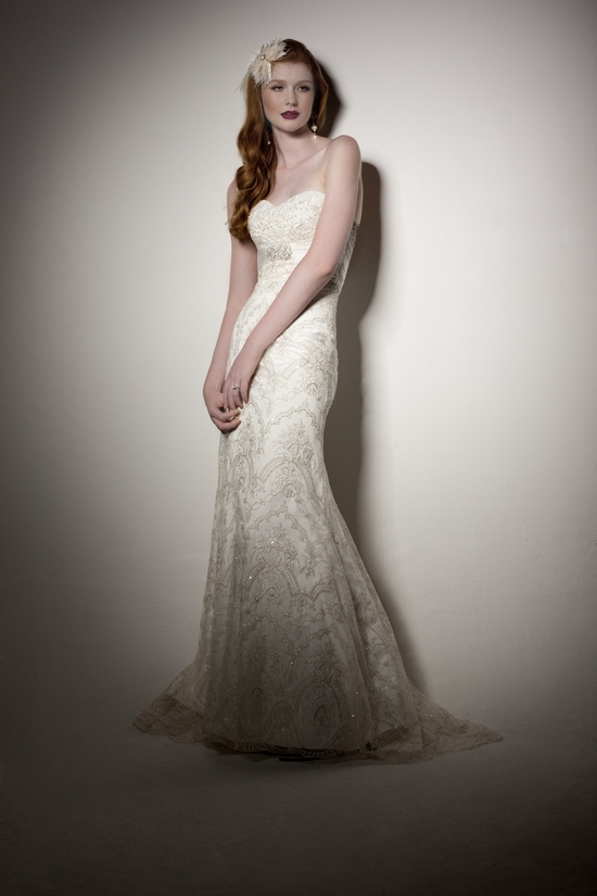 Romantic and feminine empire lace wedding dress